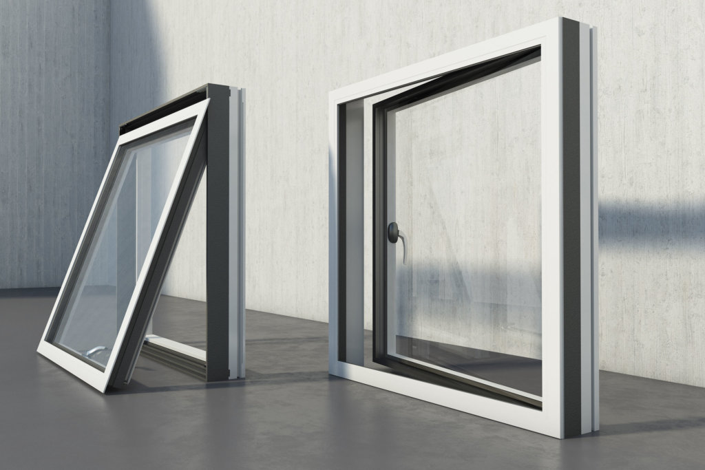 inward and outward opening contemporary alu composite windows
