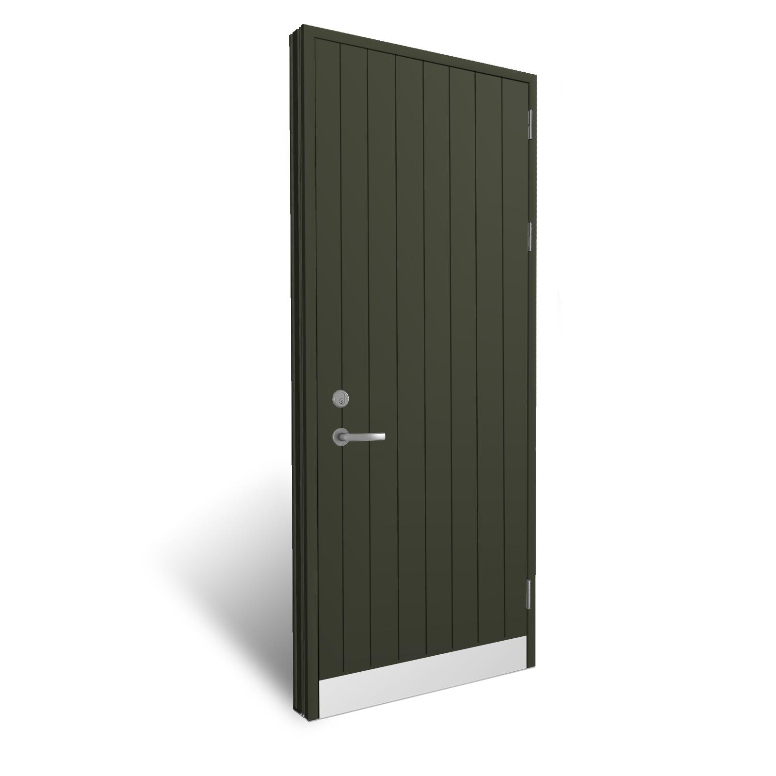 Idealcombi Flush Panel Door Black Vertical Grooves