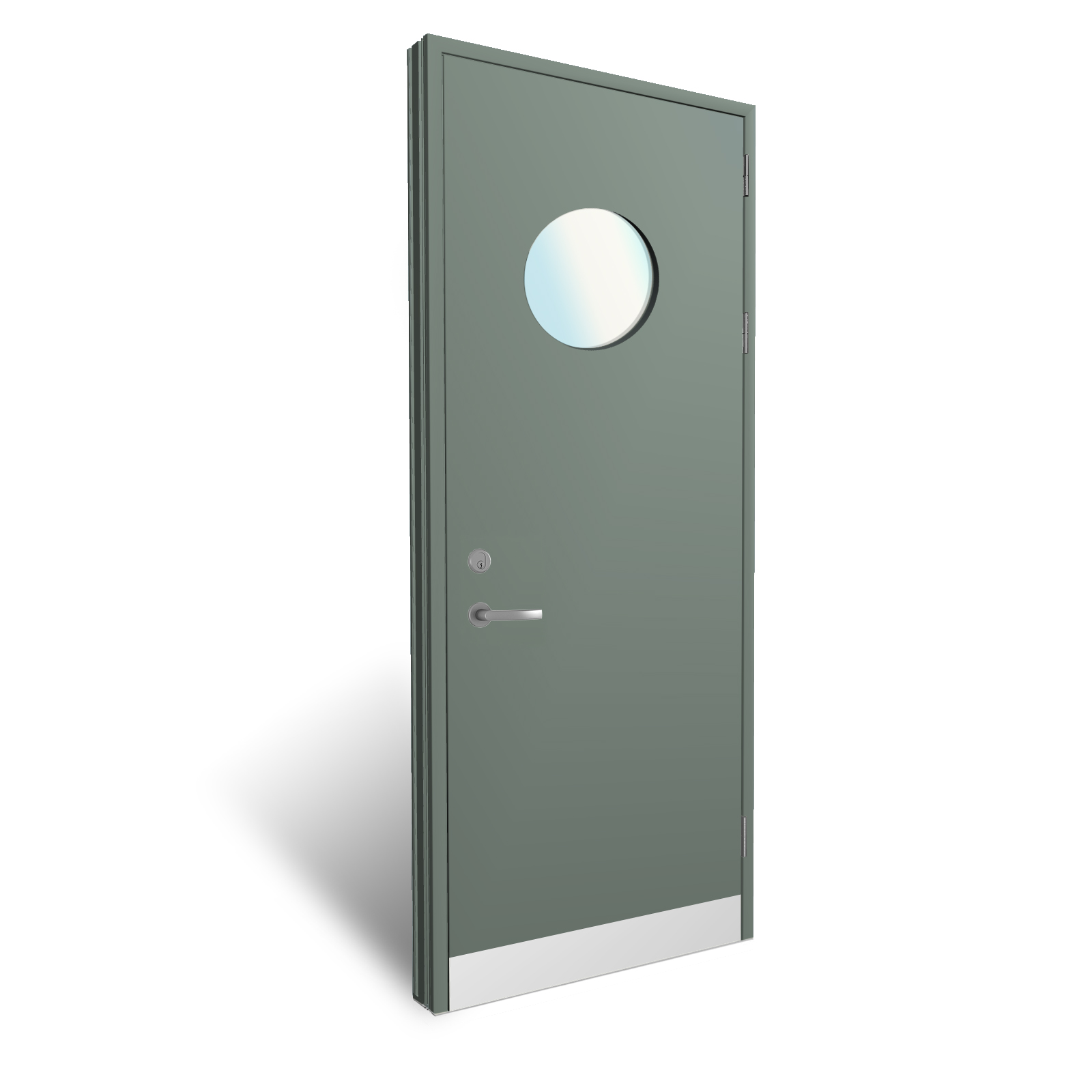 Flush Panel Doors With Grooves And Vision Panels From