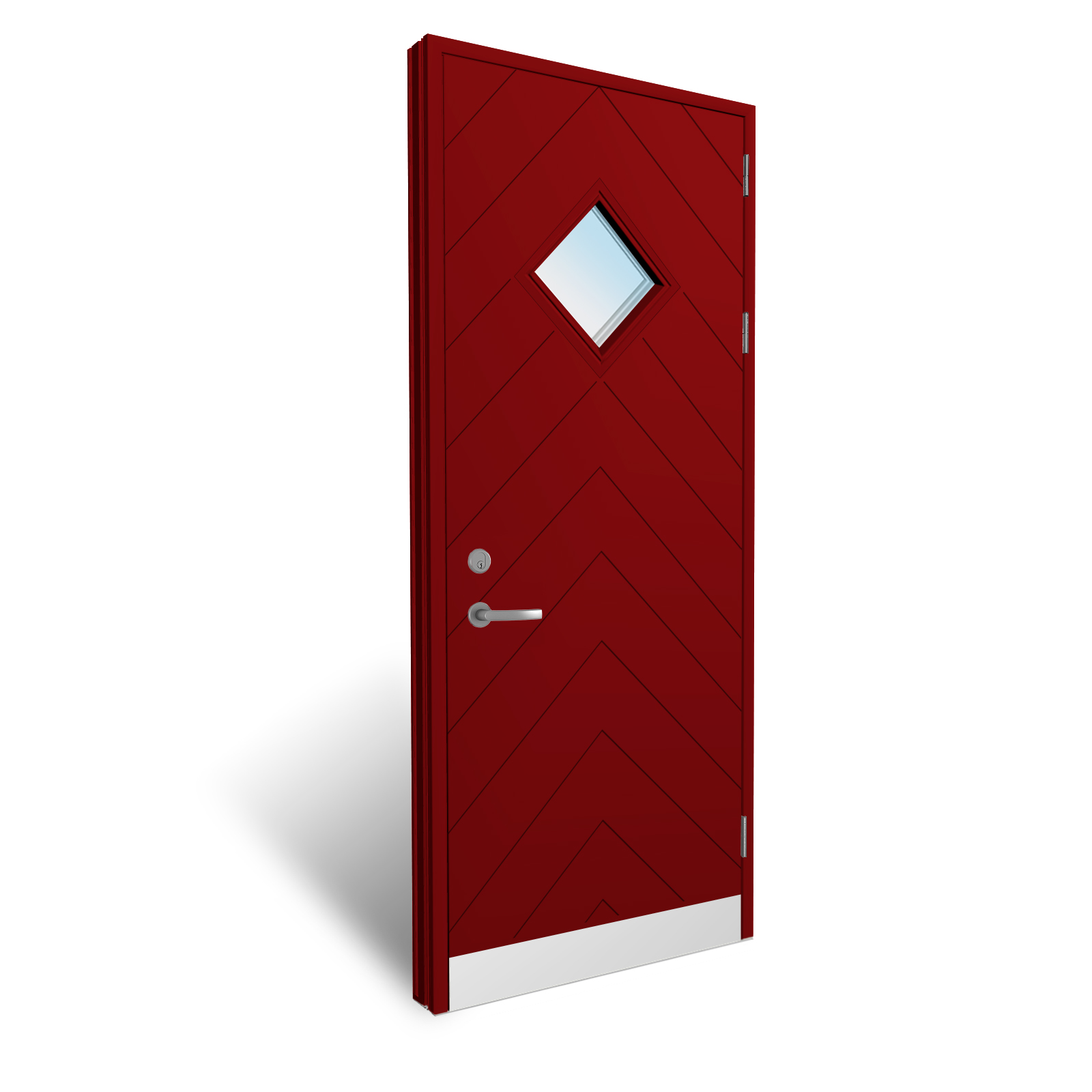 Aluminum Flush Panel Doors : Flush panel doors with grooves and vision panels from