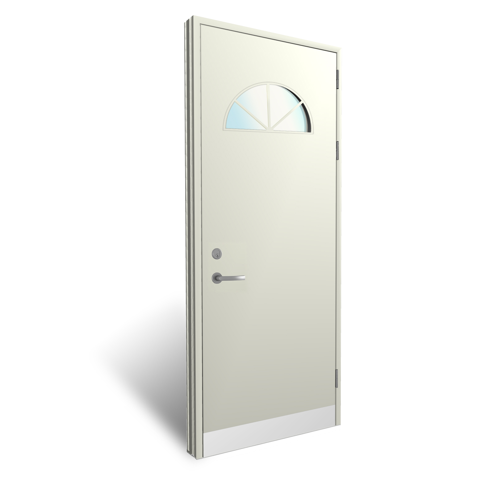 Flush panel doors with grooves and vision panels from for Door vision panel