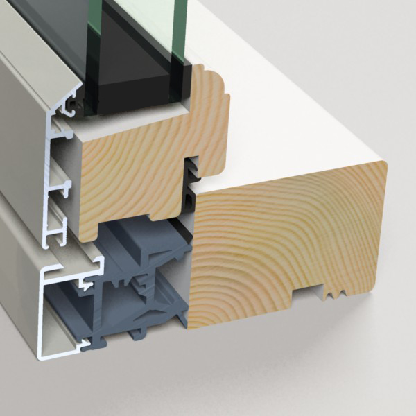 Composite windows - aluminium wood composite with thermal break