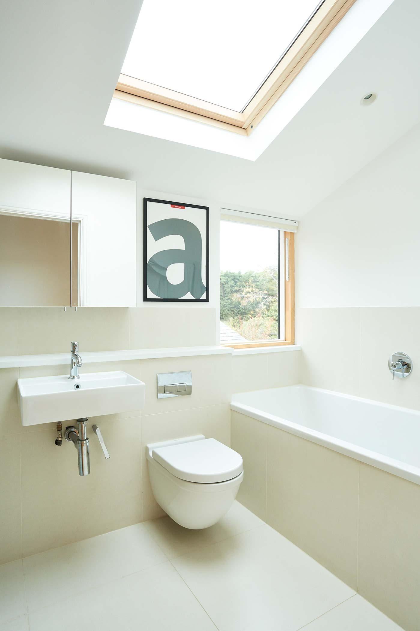 Gayhurst Road Family Bathroom W Vaulted Ceiling Idealcombi Uk
